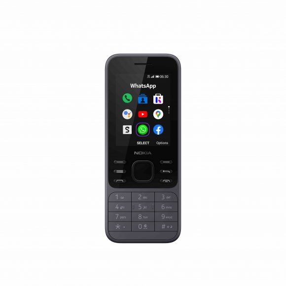 Nokia 6300 4G Light Charcoal_Front