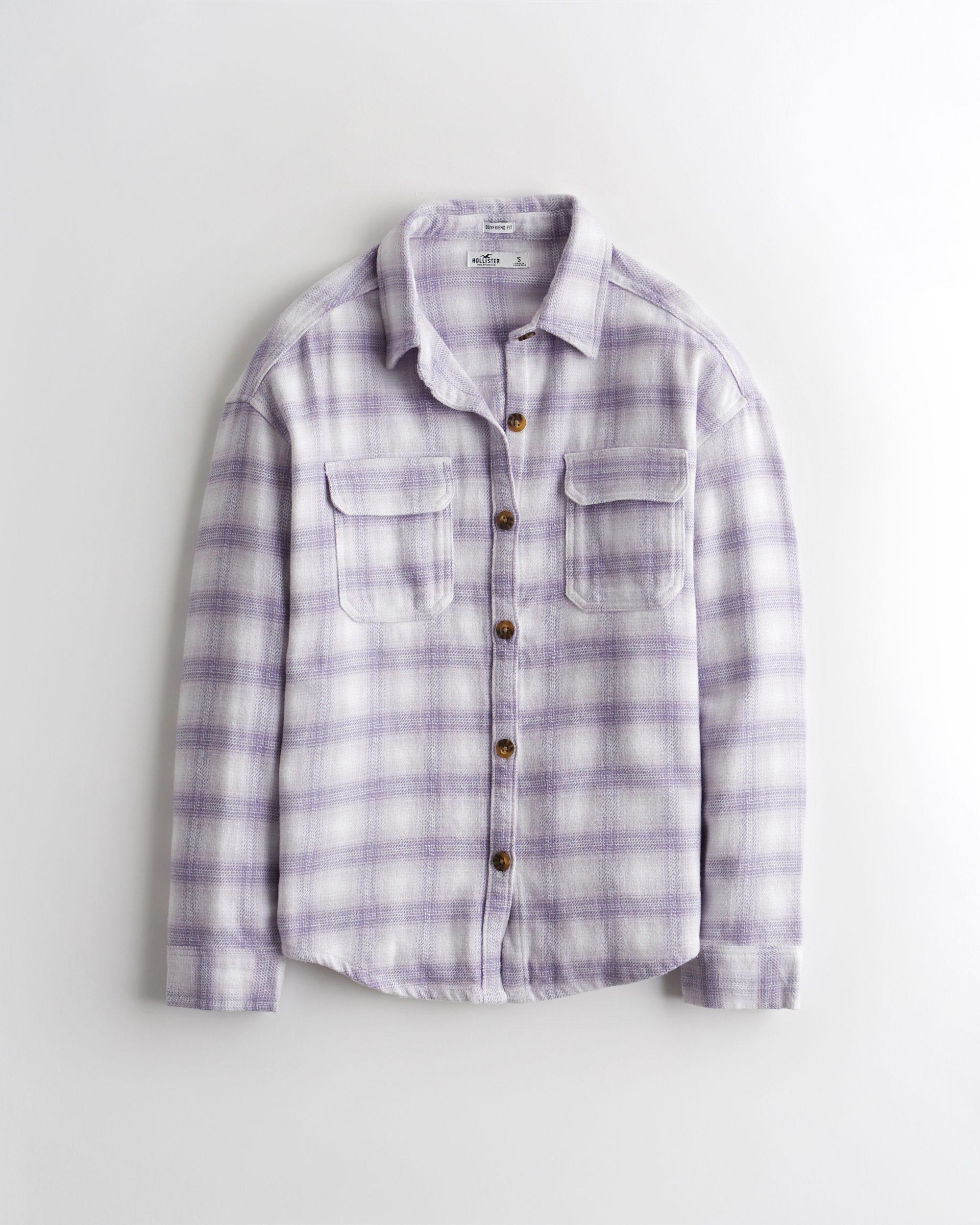 Oversized Flannel Shirt Jacket