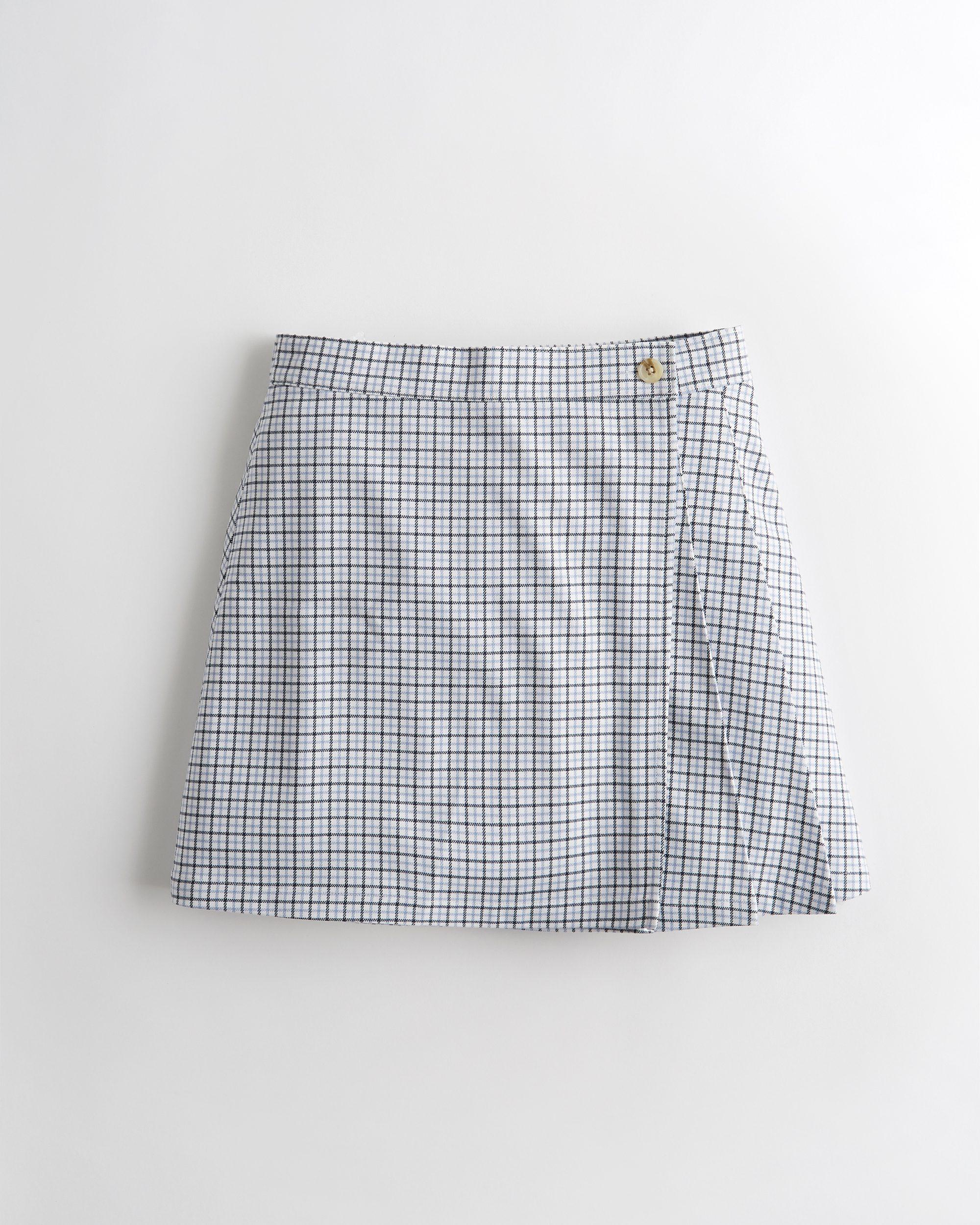 Ultra High-Rise Pleated Mini Wrap Skirt