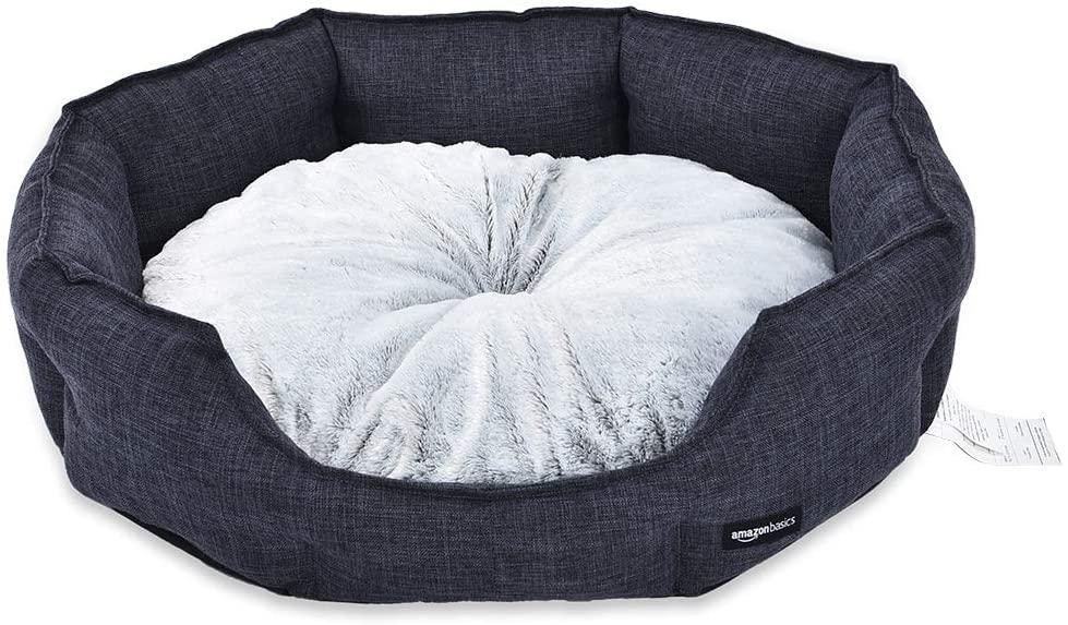 AmazonBasics Cuddler Round Pet Bed