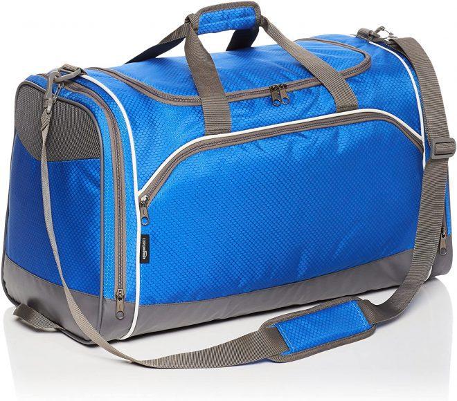 AmazonBasics Sports Duffel - Small, Royal Blue
