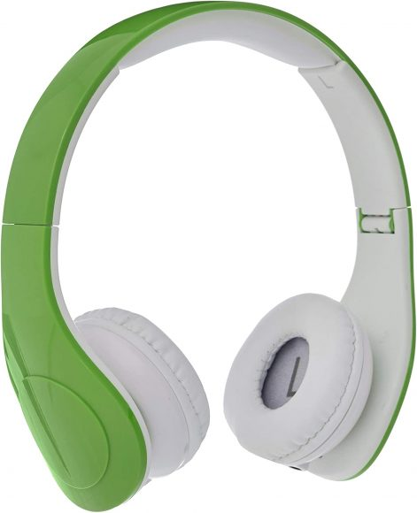 AmazonBasics Volume Limited Wired Over-Ear Headphones for Kids Green