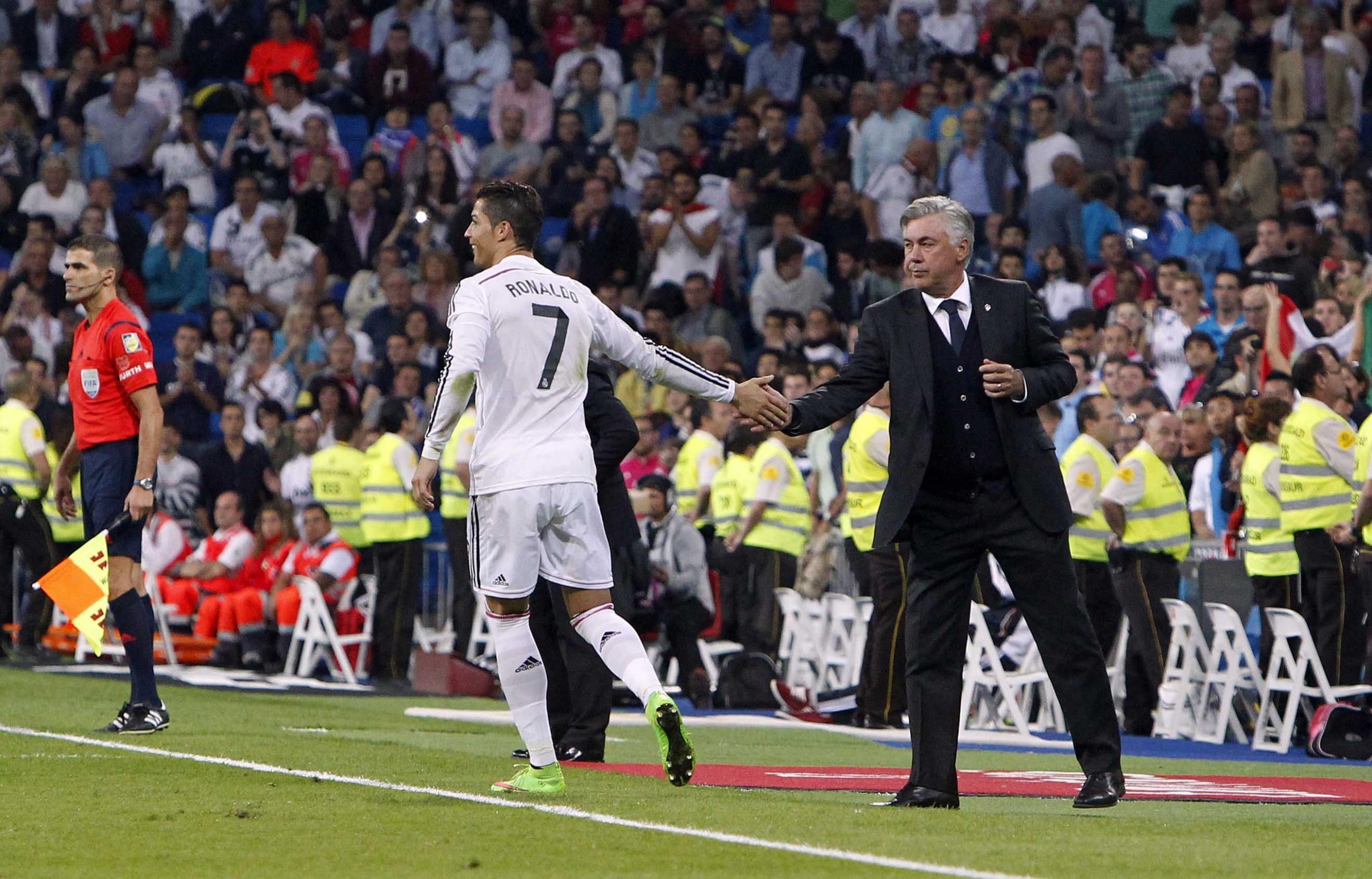 Carlo Ancelotti with Cristiano Ronaldo