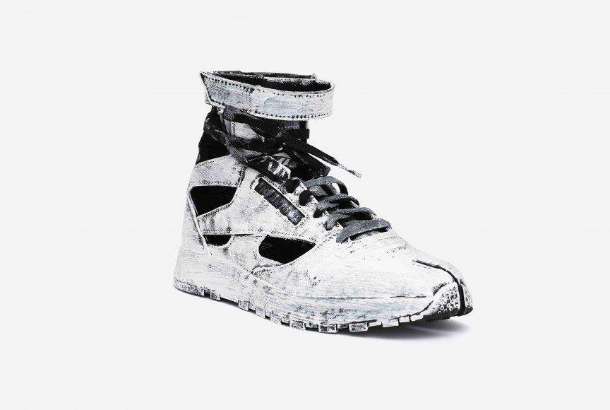 MM x Reebok Classic Leather Tabi High Bianchetto