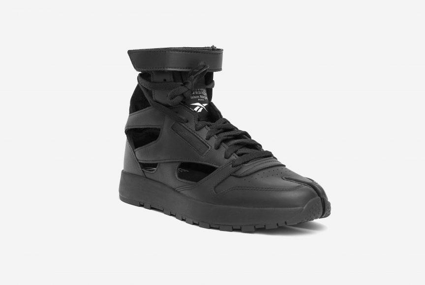 MM x Reebok Classic Leather Tabi High Black