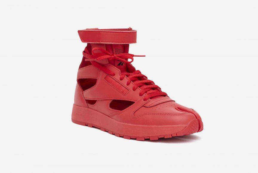 MM x Reebok Classic Leather Tabi High Red