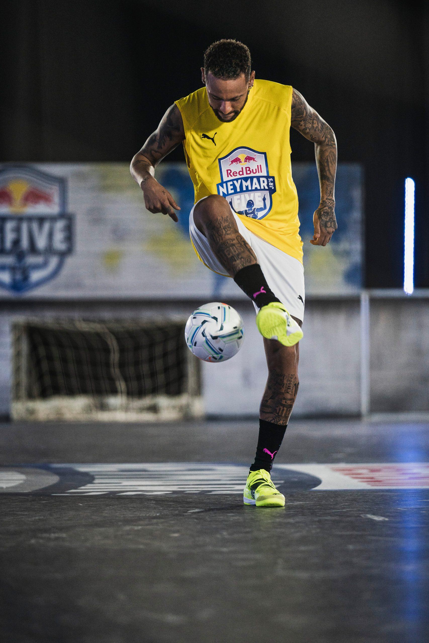 Neymar Jr. performs during Neymar Jr's Five Event in Salzburg, Austria on January 23, 2021
