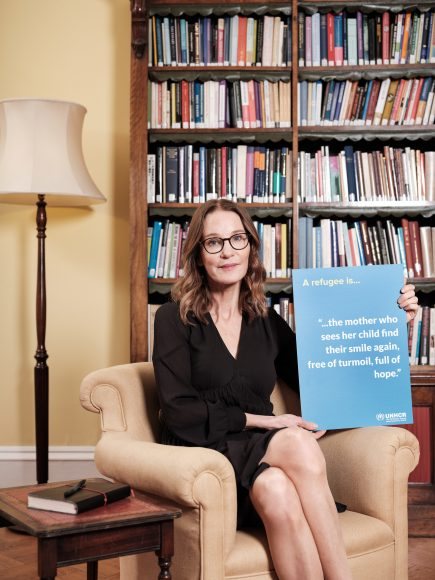 Susie Dent pairs up with UK for UNHCR to launch a new dictionary that will define just one word: refugee. The dictionary is being launched to mark the 70th anniversary of the UN Refugee Convention (28th July), which first legally defined 'refugee' and the rights of people fleeing conflict and persecution to seek refuge in another country. The nation is being urged to make their own contributions to the dictionary, via www.unrefugees.org.uk/refugeedictionary from 11th June 2021. The nation is being urged to make their own contributions to the dictionary via www.unrefugees.org.uk/refugeedictionary from 11th June 2021. (Photo credit: Michael Leckie)