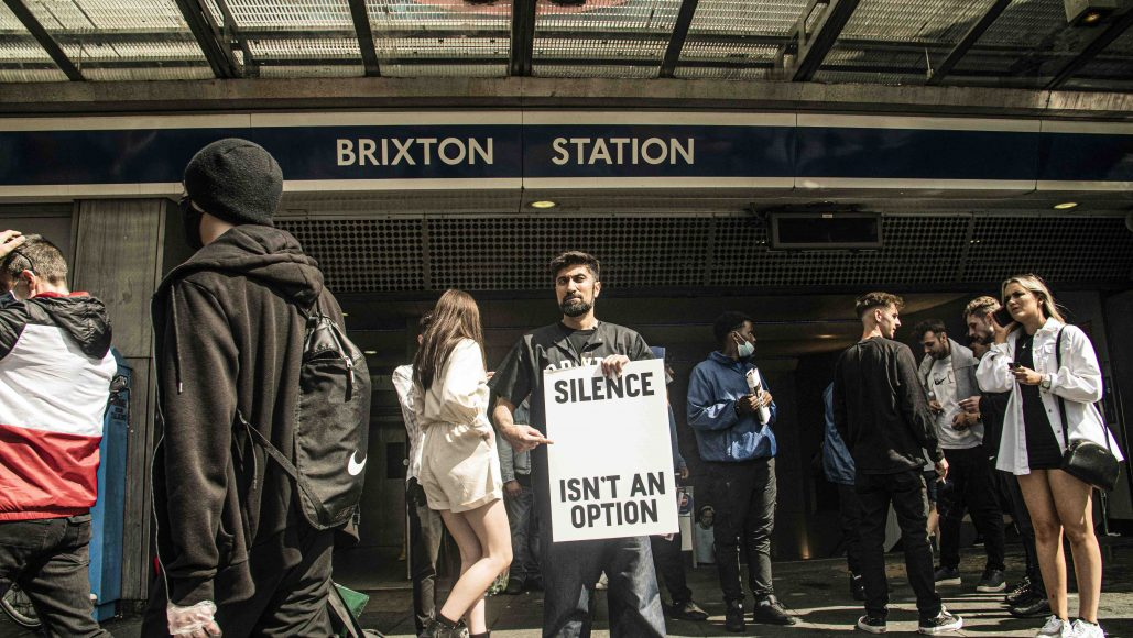 Brixton Tube Station - Haroon Khan © Create Not Distroy 0.2