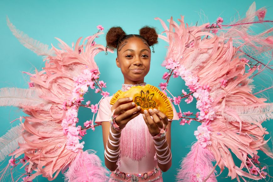 Deliveroo, Notting Hill Carnival Patty  Photographer: Tom Harrison Agency: Talker Tailor Trouble Maker