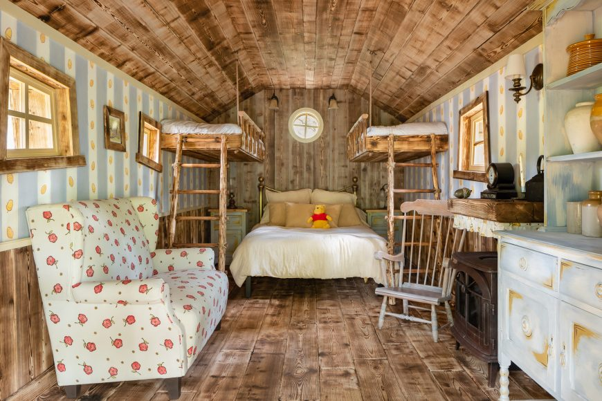 A Winnie the Pooh inspired house in Ashdown Forest, the original Hundred Acre Wood, is available to book on Airbnb as part of Disney's 95th Anniversary celebrations