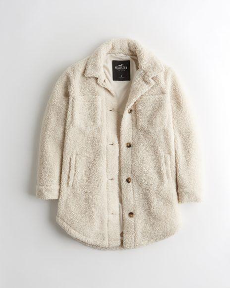 Sherpa Shirt Jacket (Cream)