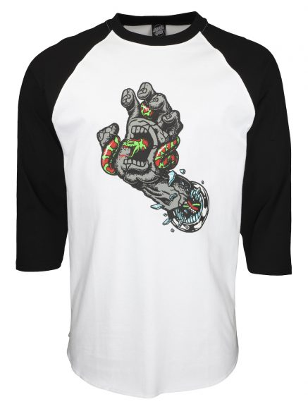 SCA FA21 LS TEE Pool Snake Hand Baseball Black White