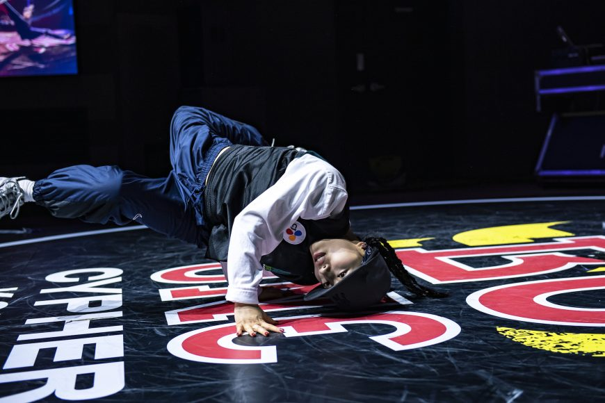 Freshbella (Winner) performs at Red Bull BC One Cypher in Seoul, South Korea on September 19, 2021. //