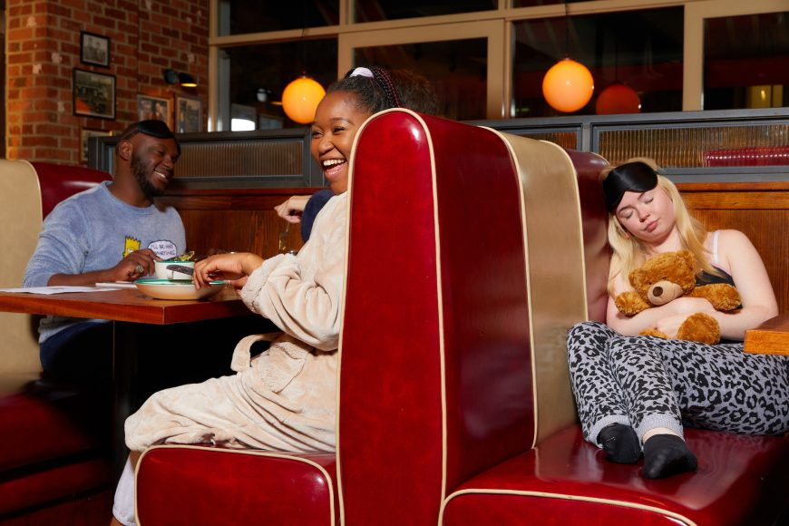 Customers can enjoy free breakfast at Frankie & Benny's when dining in pyjamas